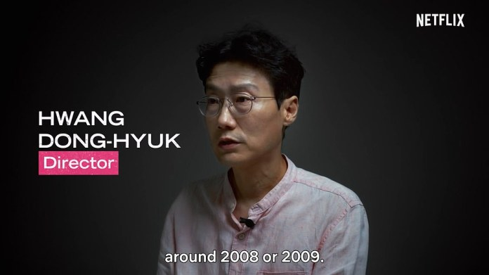 Speaking: In a behind-the-scenes video shared by Netflix, producer Hwang Dong-hyuk, art director Chai Kyung-sun and several of the show's stars reveal the inside and outside of each act — including the full-sized doll The Red Light, Green Light game, used in the 'dream-like' background and the eerie terror felt among the cast
