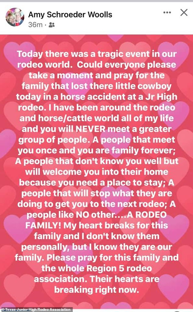 , Texas boy, 10, dies in 'freak accident' at rodeo after horse he was on reared up and fell on him, The Today News USA