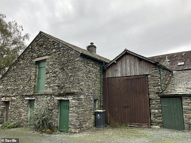 There are spacious outbuildings that are included in the monthly rental price