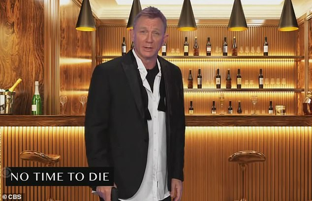Last time:Daniel Craig delivered his famous Bond line one last time on Thursday after punching talk show host James Corden in the face on The Late Late Show