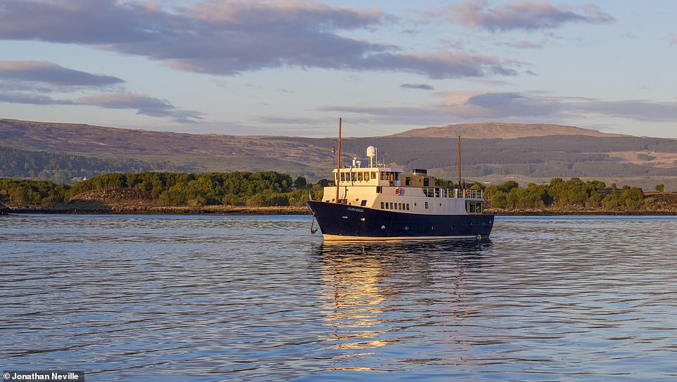 The MV Glen Shiel, pictured, visits the isles of Bute and Arran during the 'Coastlines and Castles of Argyll and the Clyde' cruise
