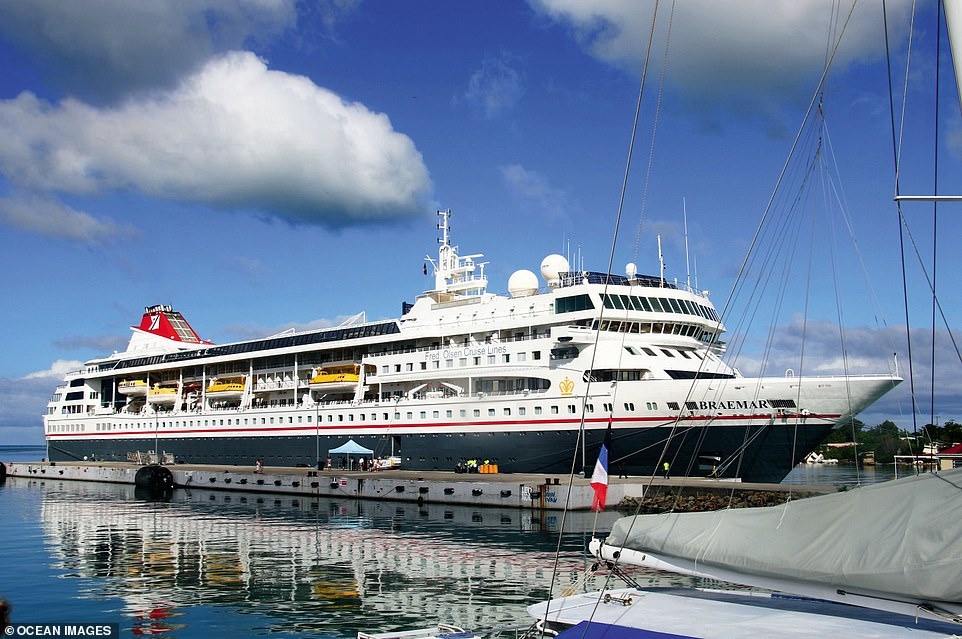 Head on a five-night Devon and Cornwall round-trip cruise on Fred Olsen's Braemar, pictured here in Antigua