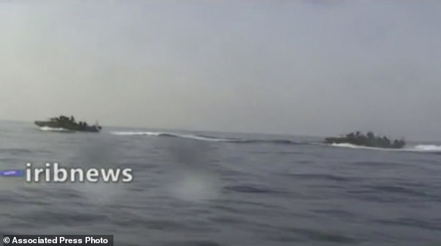 , Iranian state TV releases footage of troops 'chasing a US Navy vessel in Persian Gulf', The Today News USA