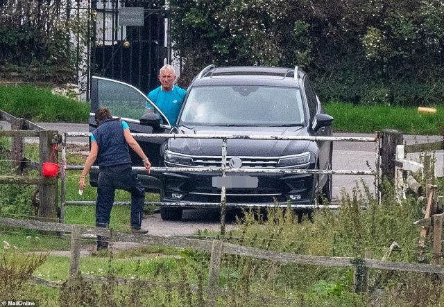 Noye visited Michelle's stables in the countryside near Dartford, Kent on Thursday. The former gangster arrived in a Volkswagen shortly after a group of children sponsored by a charity for the disadvantaged and disabled, had left her stables