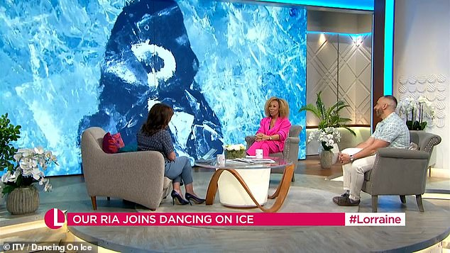 Heading to the Ice: Rhea's participation was announced during Friday's Lorraine, with presenter saying: 'It'll be fun'