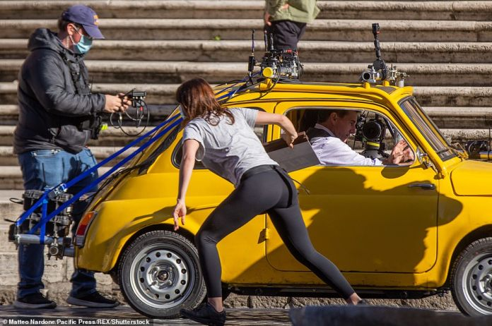 An old yellow Fiat is one of the stars of Mission Impossible 7, which is due out in 2022