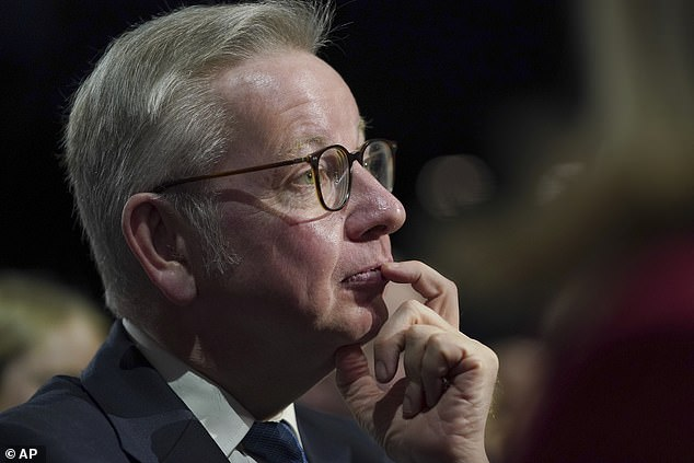 New housing secretary Michael Gove, pictured, is examining whether the state could underwrite the insurance premiums for people affected by the cladding crisis