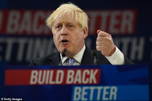 An industry leader has warned Boris Johnson (pictured) that factories across the country could stop production due to rising energy costs amid fears of a 'winter of discontent'