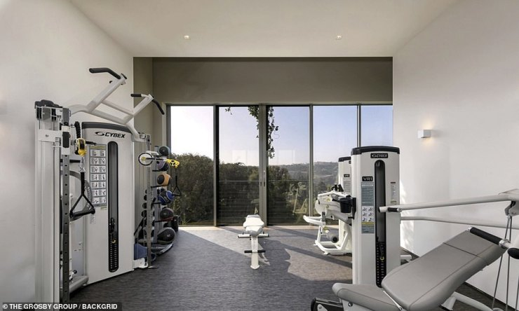 Exercise time: The private gym has everything a person could ever want or need