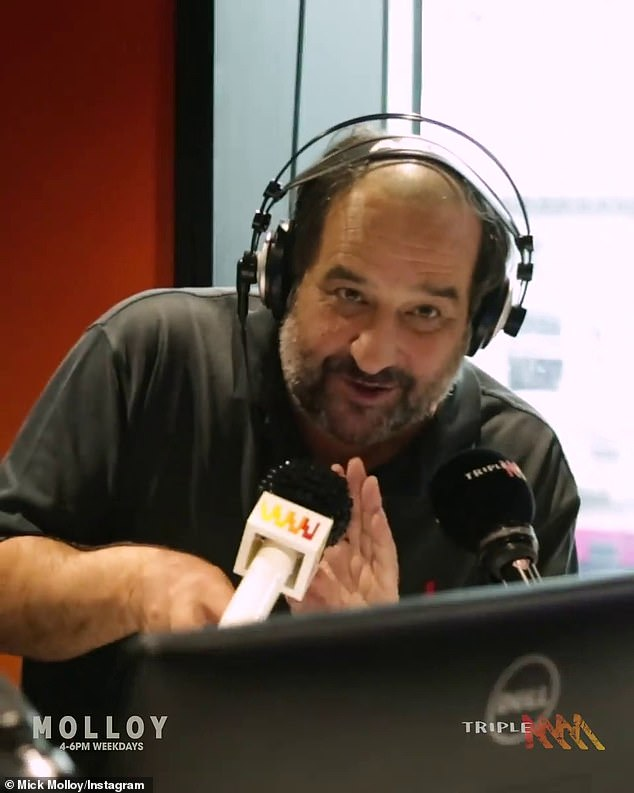 On air: While on Triple M, Marty Sheargold hosts the morning shows, followed by comedian Mick Molloy in the afternoon (pictured)