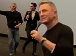 No Time To Die stars Daniel Craig and Rami Malek surprise theater goers at showing of new 007 film