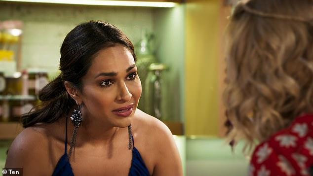 Anger:It comes after the actress released a statement in April about her 'painful' four years on Neighbours, which included racial slurs, mocking comments and a colleague calling her a 'c**t' after she confronted them over an offensive remark