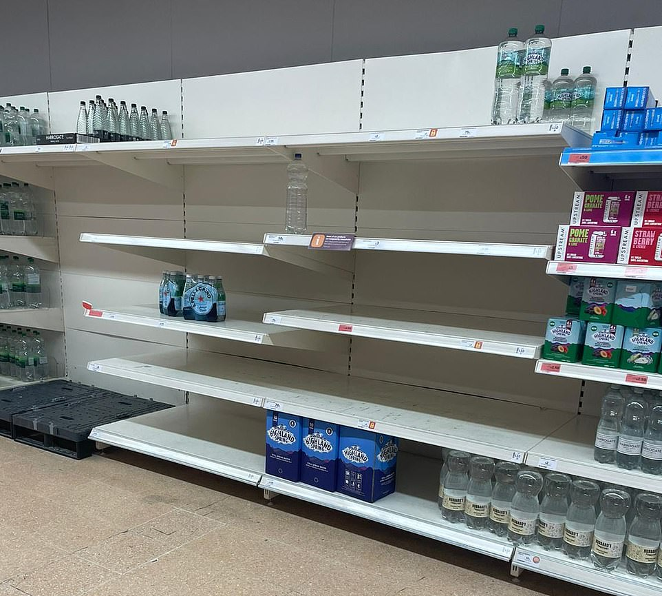 , Shelves empty across UK as supply chain crisis leaves Britons claiming they are 'unable to buy food', The Today News USA
