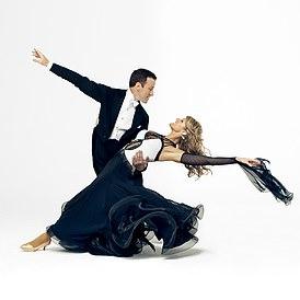 Anton and Erin on the dancefloor