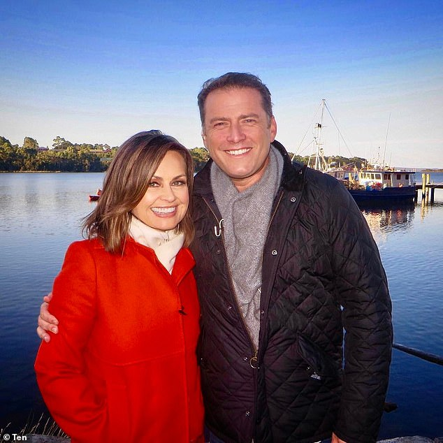 Open book:Lisa Wilkinson (left) left the Today show in 2017 over a reported pay gap dispute. And The Project star, 61, has revealed how she really felt after being ousted from the show after 10 years on air - and divulged on whether she stays in touch with her former co-star, Karl Stefanovic, 47 (right)