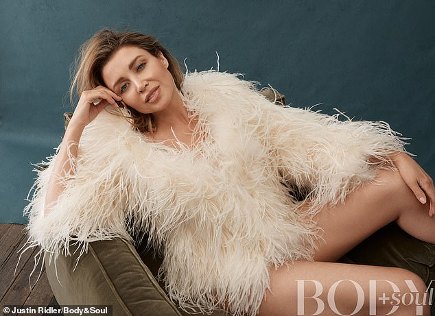 Baby face: Dannii Minogue (pictured) is set to celebrate her milestone 50th birthday on October 20 - and she insists she doesn't pay much attention to her diet or exercise and has 'packed on the kilos'. Pictured in this week's Body+Soul Magazine