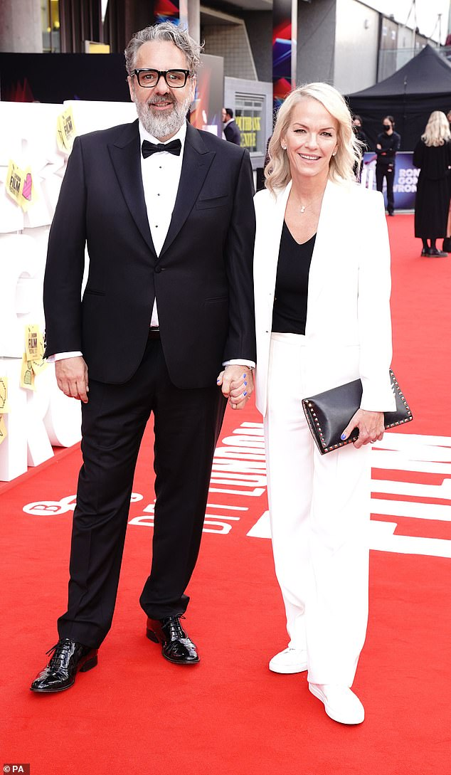 The film: Executive producer Elizabeth Murdoch and her partner Keith Tyson arrive for the world premiere