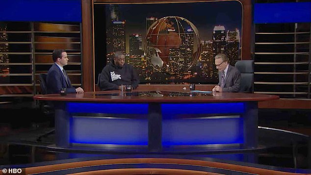 Maher sparred with rapper Killer Mike - real name Michael Render - and Washington Post reporter Robert Costa as they joined him as panelists on his show Friday night