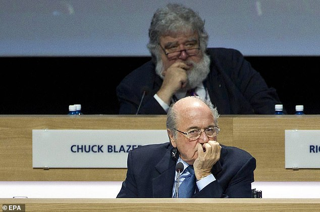 An FBI investigation resulted in Sepp Blatter's (bottom) removal from FIFA and ban from all football while Chuck Blazer's (top) corruption came to light