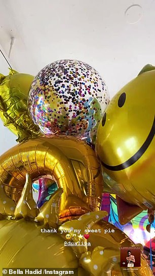 Balloon delivery: The Levitating singer and girlfriend of brother Anward gifted a bunch of balloons to Bella