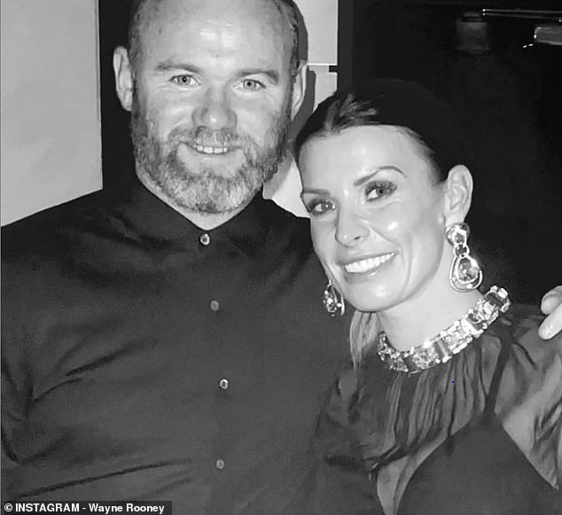 On hold:Her outing to the party comes amid reports plans to release a biopic of her husband Wayne celebrating his life and sporting career have reportedly been put on hold