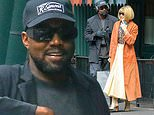 Kanye West attempts to keep a low profile as he dines with Anna Wintour in New York City