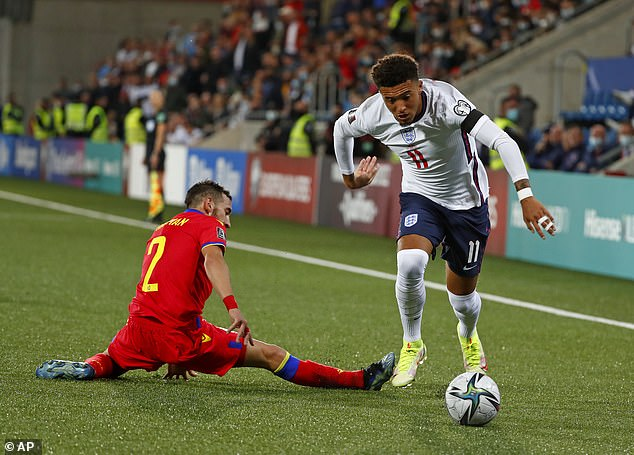 Meanwhile, Jadon Sancho impressed with an encouraging display on the flank for England