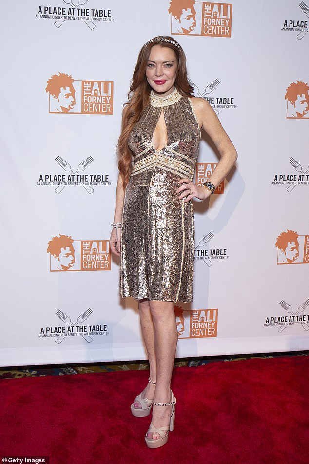 In the works: Lohan recently announced she partnered with Red Arrow Studios' Studio71 to launch a new podcast (pictured in 2019)