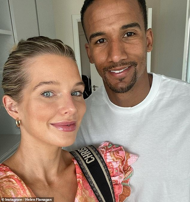 Partner: Helen shares three children with footballer Scott Sinclair, Matilda, six, Delilah, three and five-month-old Charlie