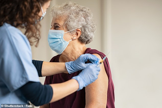 Many over-50s chose to have a flu jab when they came in for their Covid booster (file photo)