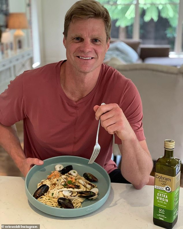 Will he win?As of Sunday afternoon, former AFL star Nick Riewoldt (pictured) is the front-runner to win with odds of just $1.22