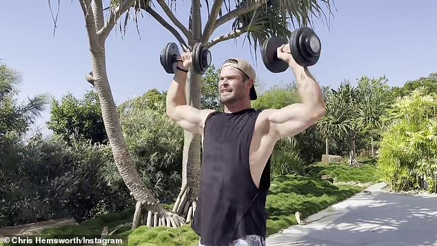 Sweat it out! 'Woke up this morning, motivation levels at an all-time-low. A bit flat, a little dusty,' the beefy Hollywood star told his Instagram followers