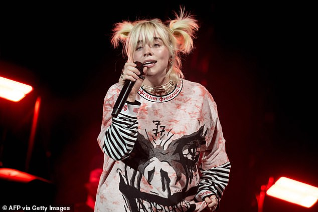 Lighting up the stage: Billie Eilish was also part of the second day lineup for the second weekend of the event
