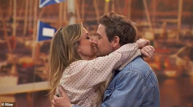 Happy news:On Sunday's episode of The Block, Kirsty Lee Akers and Jesse Anderson turned around the tides of their misfortune. Both pictured