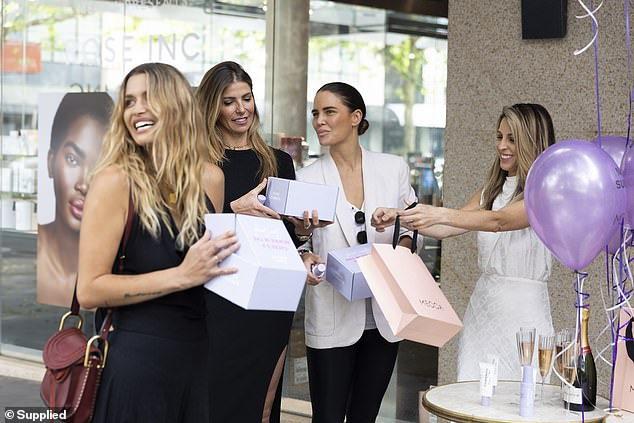 Popular:Her products, which include the SPF 50+ Hydrating Glow Mist ($39.95) and the SPF50+ Collagen Glow 100% Mineral Lotion ($39.95) are used by the likes of Pip Edwards, MAFS star Martha Kalifatidis and Natasha Oakley