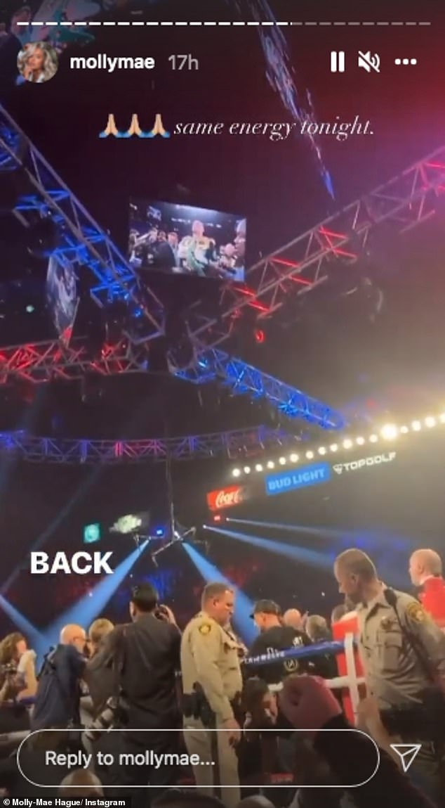 Phone home:Sharing a clip of their video chat on Instagram, Molly-Mae said hearing of Tyson's win was 'the best call ever'
