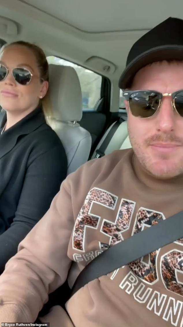 First video scan: 'We're going to do a 5D scan today,' an excited Bryce told fans as they drove to a Melbourne clinic, while Melissa said they had left the scan a little late at 28 weeks pregnant