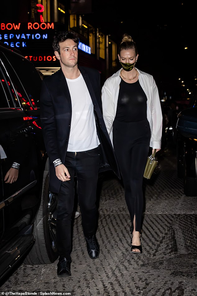 In stitches! Karlie Kloss and her husband Joshua Kushner enjoyed a night of laughter at Saturday Night Live in New York