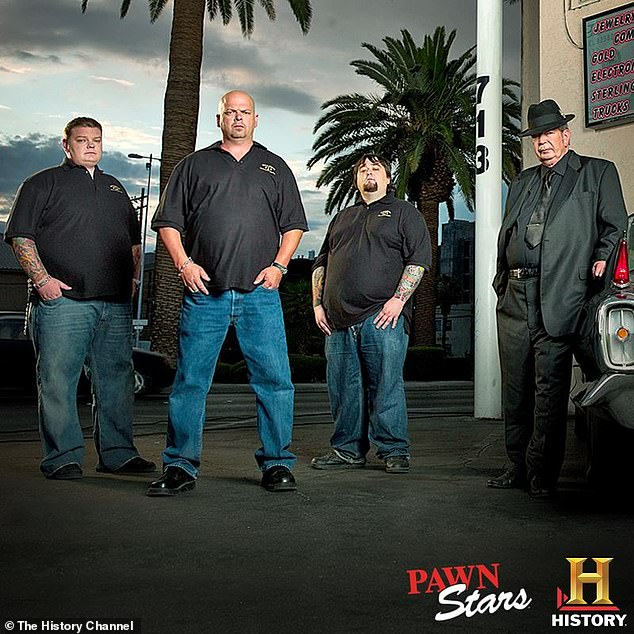 Butt of everyone's jokes: After Chumlee (2-R, born Austin Lee Russell) topped the scales at 350lbs, he decided to make a real change following years of yo-yo dieting