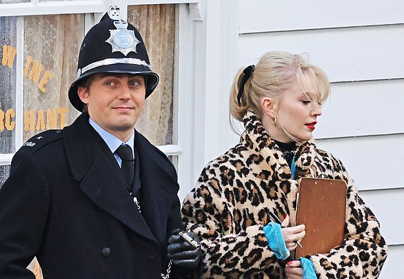 The Larkins is a family drama in more ways than one ¿ thanks to the casting of Bradley Walsh and his son Barney (who is pictured above as PC Harness in the show)
