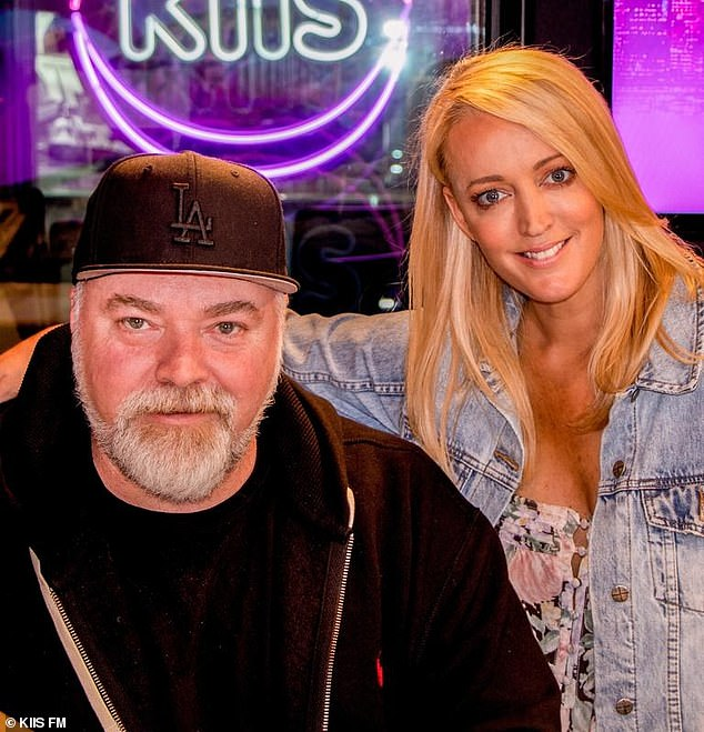 Unclear: Kyle (pictured withco-host Jackie 'O' Henderson) felt the rules weren't clear enough, noting the 'grey area' between brothels and message shops that sometimes offer 'extras'