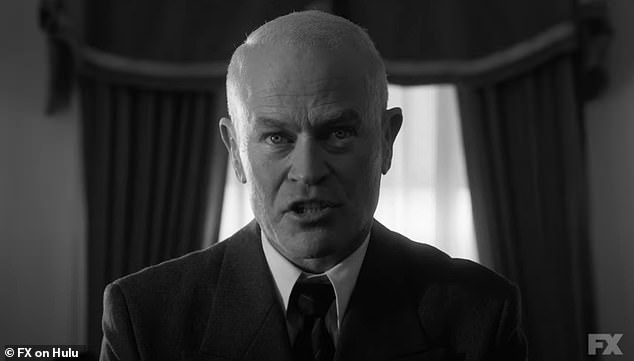 Eisenhower (Neal McDonough) yells:'I said let her go!'