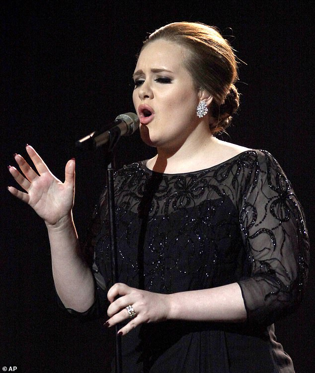 Risky: This isn't the first time Adele has been careful to maintain her distinctive voice, having had surgery on her vocal cords in 2011 (pictured in 2012)