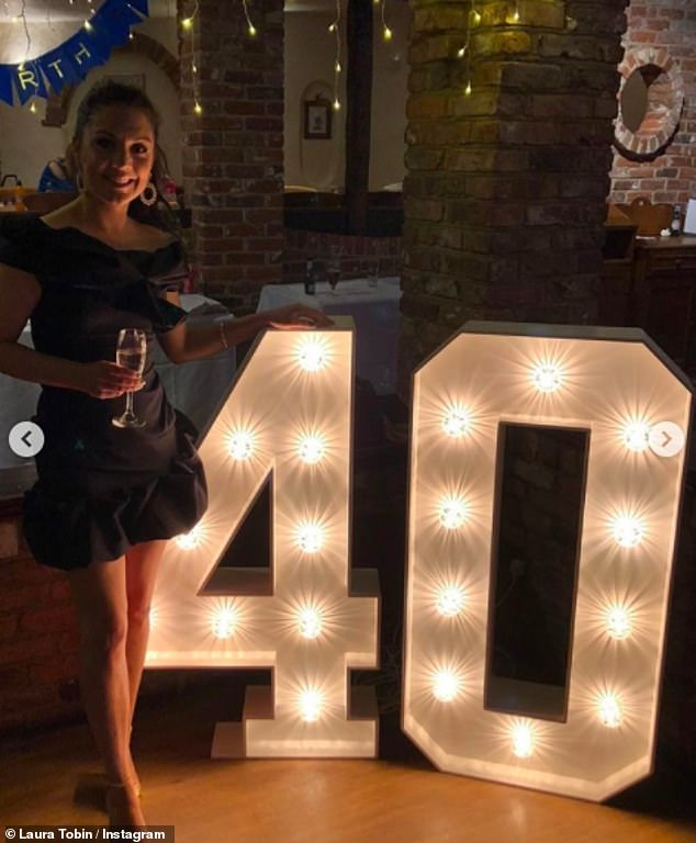 Birthday girl: The television star had early birthday celebrations on air on Friday, which left viewers in disbelief of her age