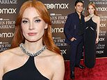 Jessica Chastain rocks a black cutout gown at a NYC screening of Scenes From A Marriage