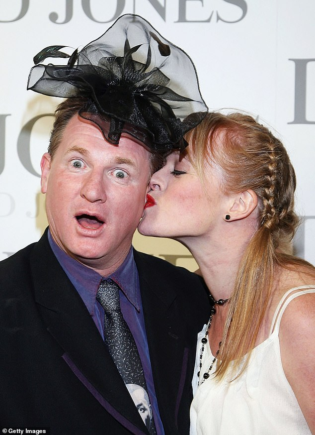 Devastating loss: Russell's fiancée and de facto wife of 19 years was found dead at the Crown Casino hotel in Melbourne in September 2015. Pictured together in Melbourne in October 2006