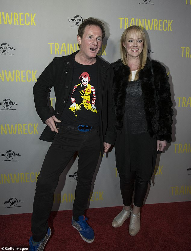 Tragedy: Concerned friends and family came together in mourning and support when he disappeared following the tragic death of his 'soulmate', Rochelle. Pictured together at the premiere of Trainwreck in Melbourne in July 2015