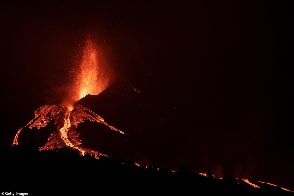 Over 1,000 buildings have already been engulfed or badly damaged by the streams of molten rock