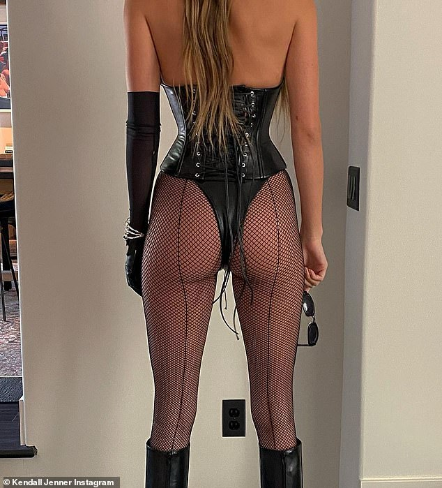 Famous booty: Kendall Jenner shared a cheeky throwback of herself dressed up as Barb Wire from her 25th birthday Halloween bash