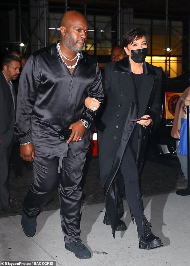 Night out: Kris and boyfriend Corey celebrate Kim's night after the show